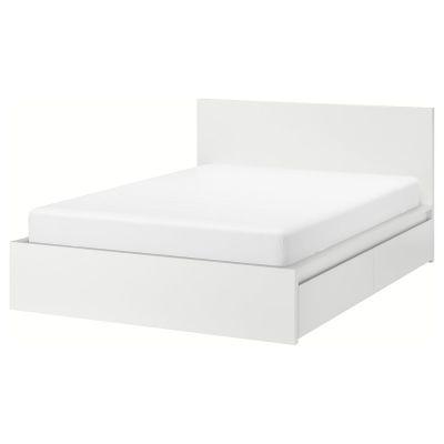 malm каркас ліжка високий, 4 крб д/збер