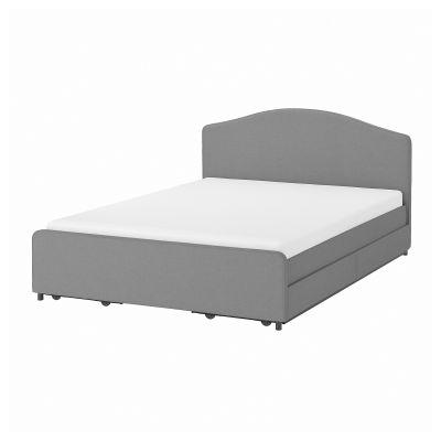 hauga ліжко мяка оббивка 4коробки д/збер