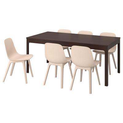 ekedalen / odger стіл і 6 стільців