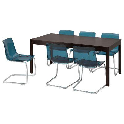 ekedalen / tobias стіл і 6 стільців