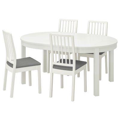 bjursta / ekedalen стіл і 4 стільці