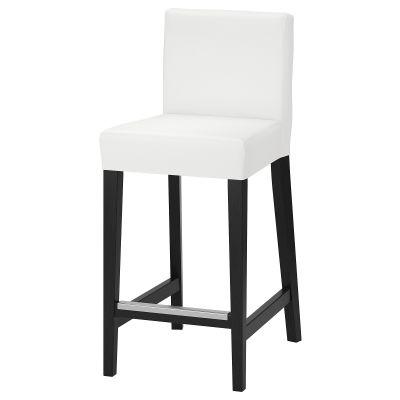 henriksdal барний стілець зі спинкою
