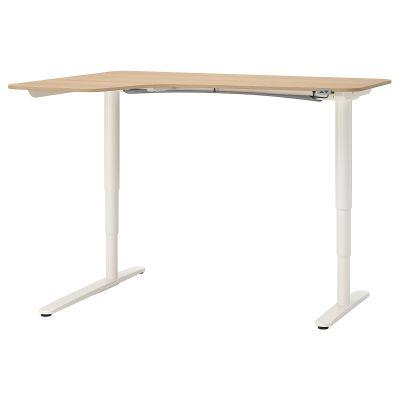 bekant кутовий письм стіл лівоб/регульован