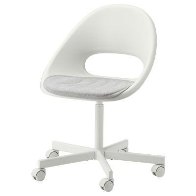loberget / blyskar стілець обертовий із подушкою