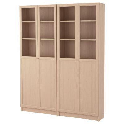 billy / oxberg комбінація книжкових шаф з дверцятами