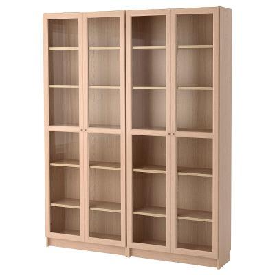 billy / oxberg комбінація книжкових шаф з скляними дверцятами
