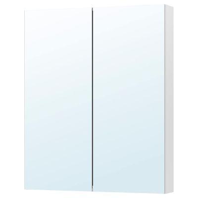 godmorgon шафа дзеркальна із 2 дверцятами80x14x96 см