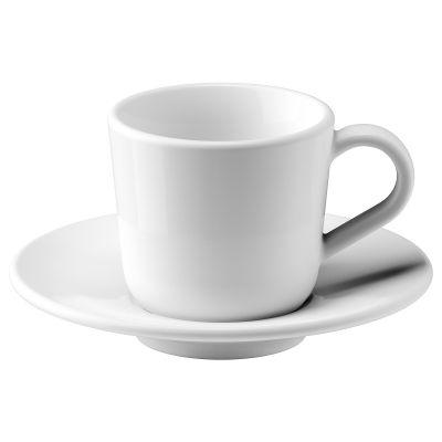 ikea 365+ чашка і блюдце для кави