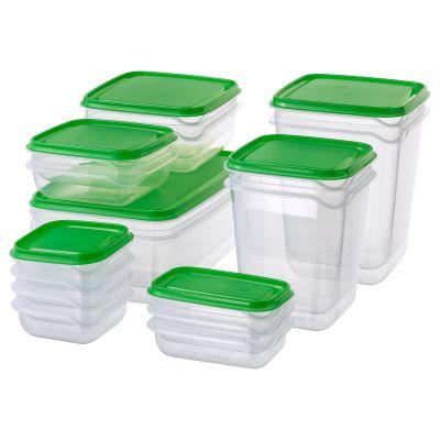 pruta харчовий контейнер набір 17 шт.