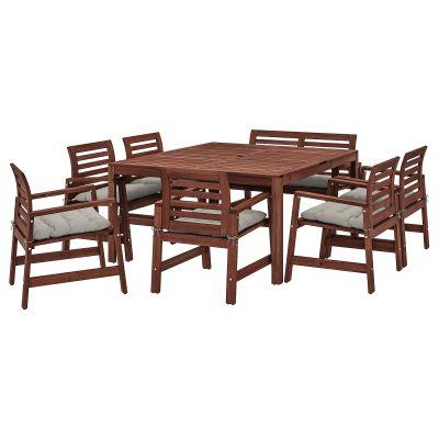 applaro стіл і 6 крісел з підлокітниками