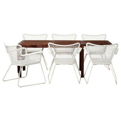 applaro / hogsten стіл і 6 стільців з підлокітниками