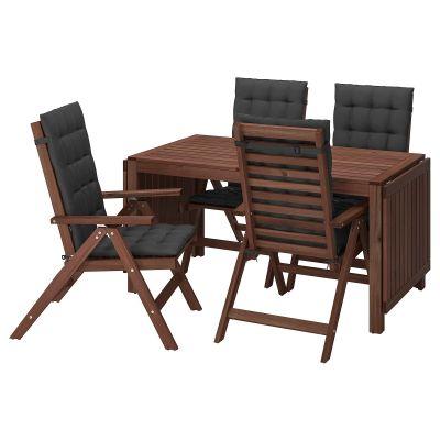 applaro стіл і 4 складані стільці