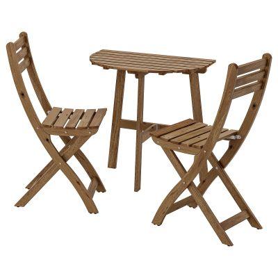askholmen стіл стін кріпл+2 склад стільці/вул