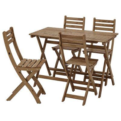 askholmen стіл і 4 стільці