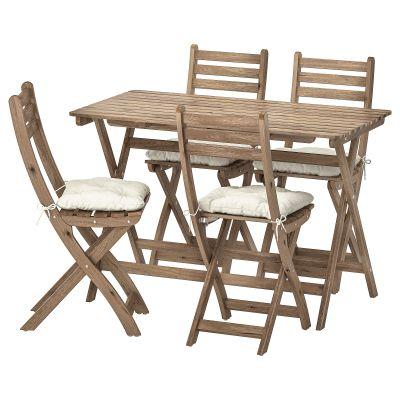 askholmen стіл і 4 складані стільці