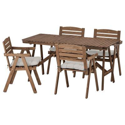 falholmen стіл і 4 стільці з підлокітниками