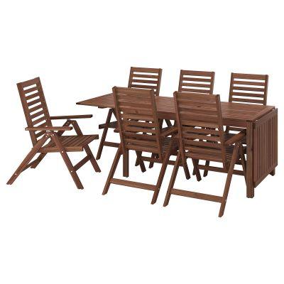 applaro стіл і 6 складаних стільців