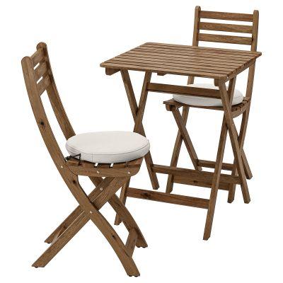 askholmen стіл і 2 складані стільці