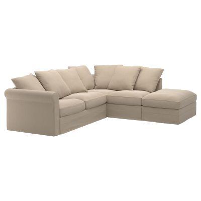 gronlid кутовий диван 4місний, з вікритою секцією