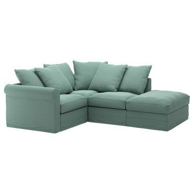 gronlid кутовий диван 3місний з вікритою секцією
