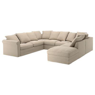 gronlid диван uподібної форми 6місний, з вікритою секцією